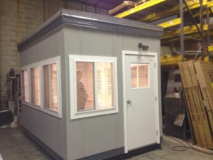 8 x 12 Guard Booth-Plan A- Door on 8 side