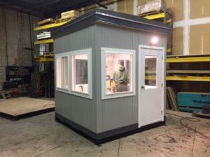 8 x 8 Guard Booth-Titus Model-100-130MPH Zone