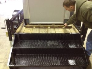 4 x 6 Trailer Mounted Guard Booth-Steps