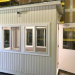 Insulated Tempered Windows-Door with large vision & heavy duty closer All window and door trim to be non-corrosive solid vinyl