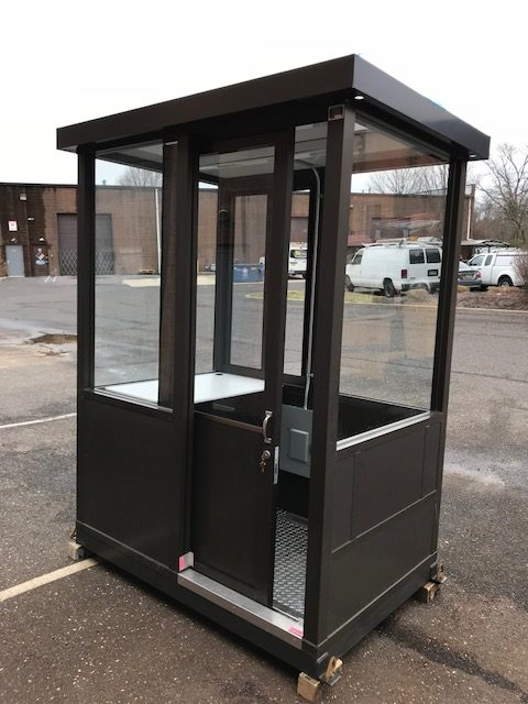 4 X 6 Guard Booth Sliding Door Bronze Guardboothonline Com